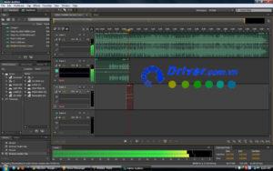 Giao diện phần mềm Adobe Audition CS6